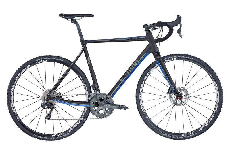 ROSE TEAM DX CROSS-3100 Di2 anodized-black/blue