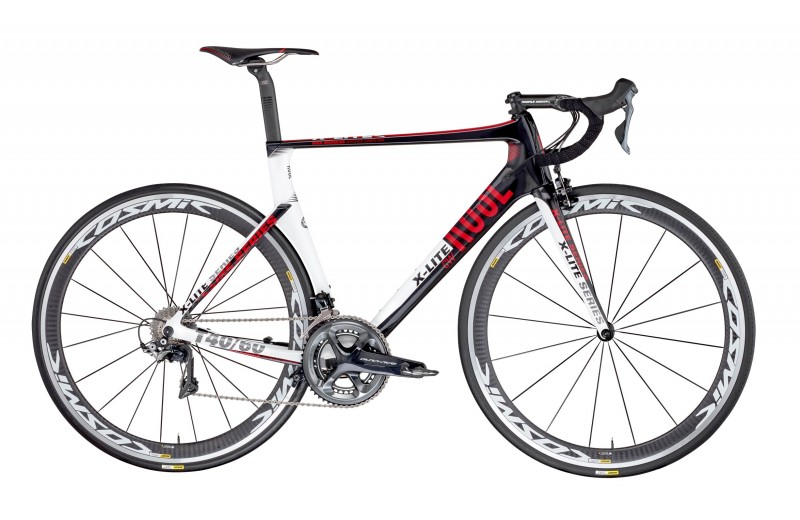 ROSE X-LITE CW-4000 shiny-UD-carbon/white-red