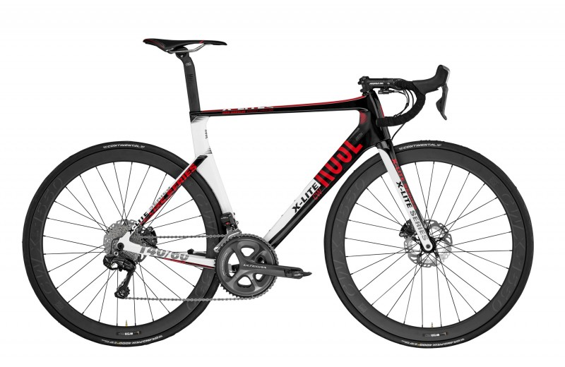 ROSE X-LITE CWX-3100 shiny-UD-carbon/white-red