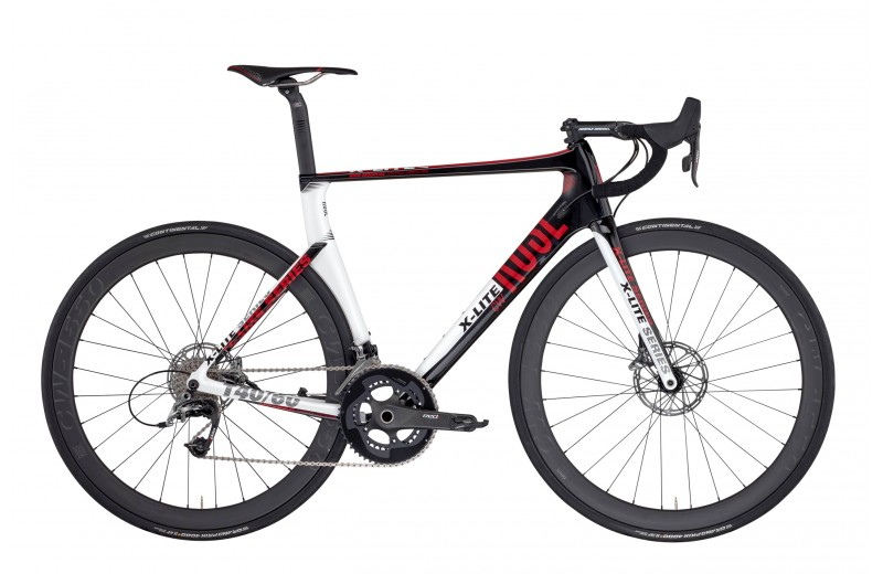 ROSE X-LITE CWX-8800 shiny-UD-carbon/white-red