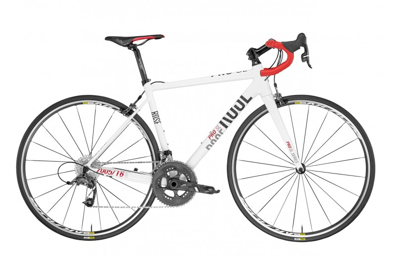 ROSE PRO SL-440 DAMEN BIKE NOW! shiny-white/grey-red