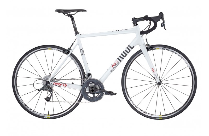 ROSE PRO SL-4400 BIKE NOW! shiny-white/grey-red