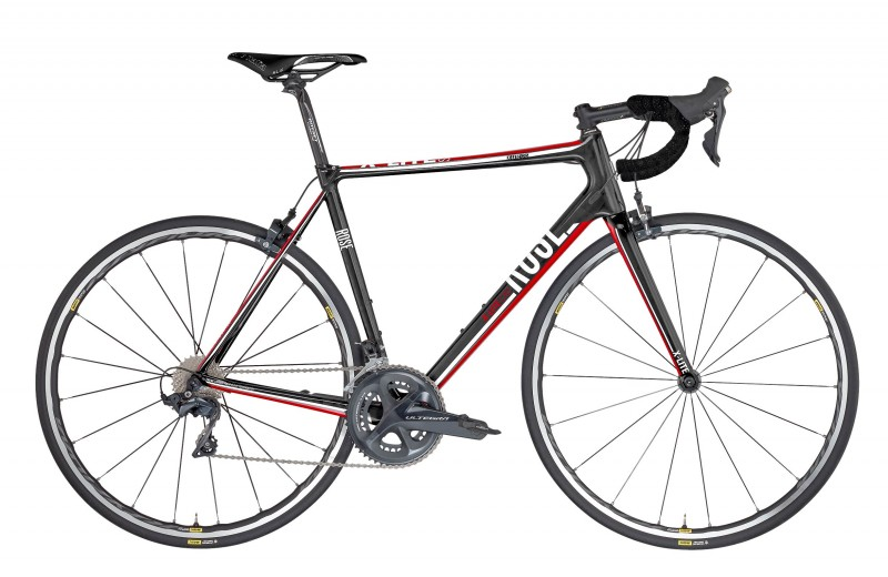 ROSE X-LITE CRS Ultegra shiny-UD-carbon/red-white
